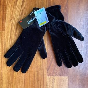 Thinsulate insulation black gloves w/ tan inside.